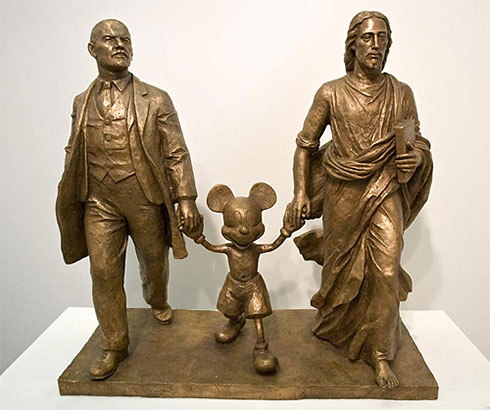 Lenin, Mickey Mouse and Jesus