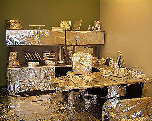 Office prank: tin foil