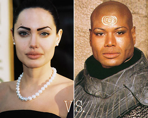 Angelina Jolie vs. Teal'c