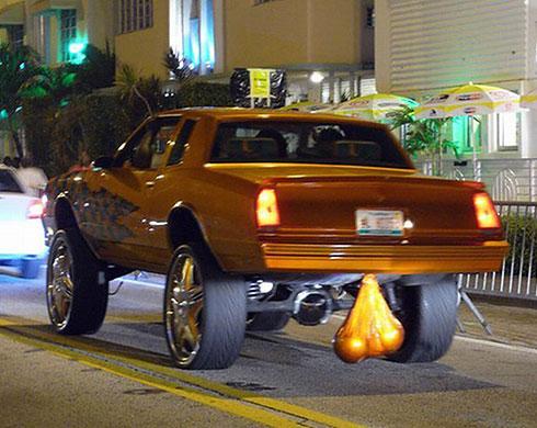 Golden balls car