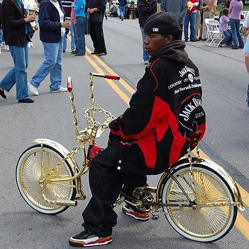 Golden pimped bike