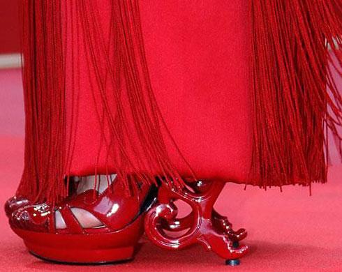 Strange red high heels