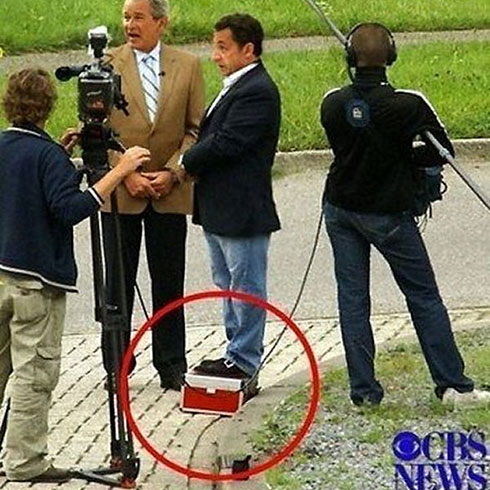Sarkozy's red box trick