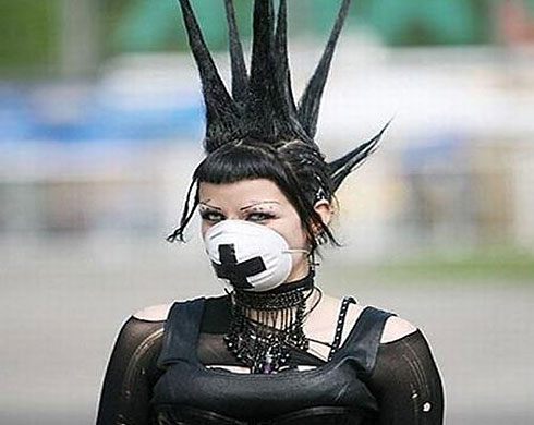 Swine flu: punk girl