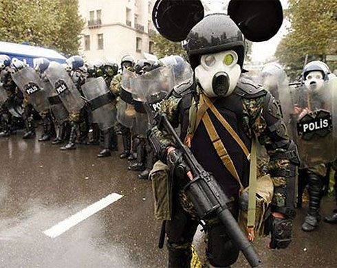 Mickey Mouse police squad