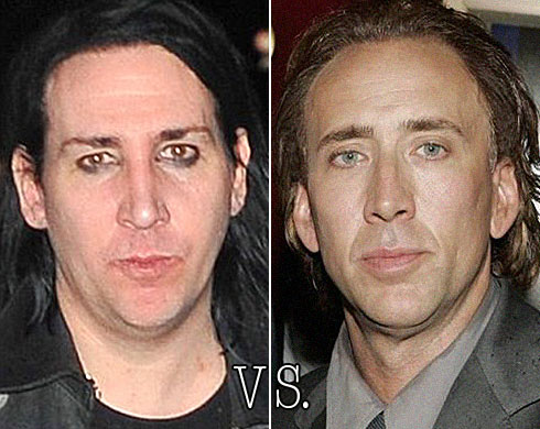 Marilyn Manson (without make-up) vs. Nicholas Cage