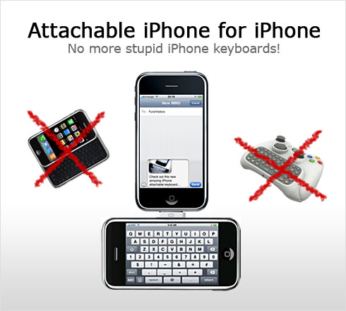 The Ultimate iPhone Attachable Keyboard